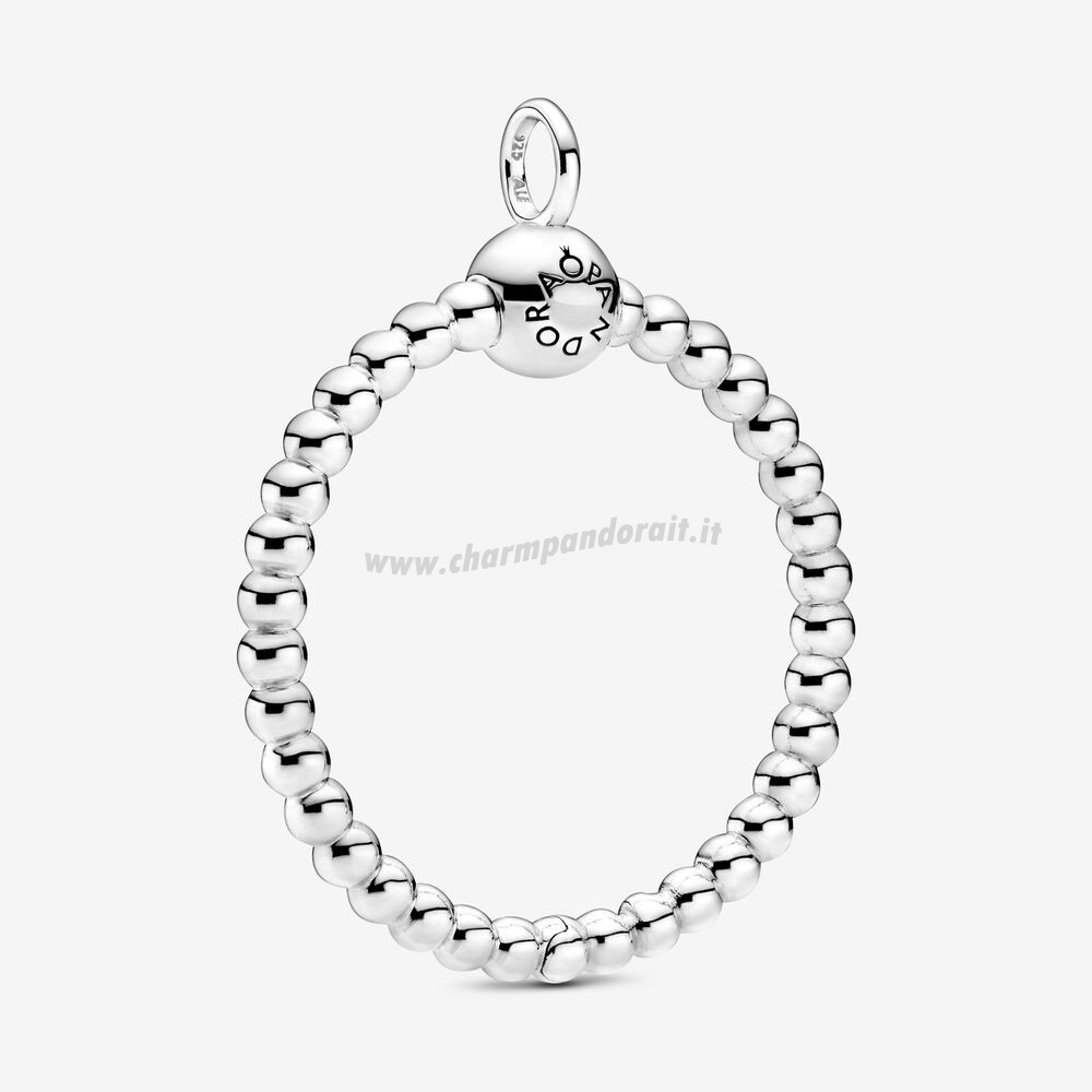 Miglior Prezzo Pandora Moments Medium Beaded O Pendant