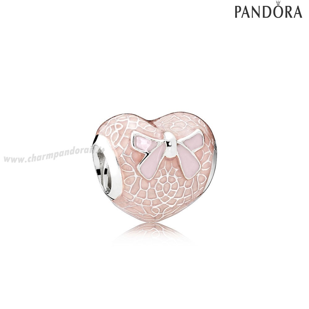 Miglior Prezzo Pink Lace And Bow Charm